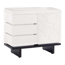 Two Wide Changing Table By Nurseryworks - Elegance meets function in the contemporary design of the modular Two Wide Changing Table.