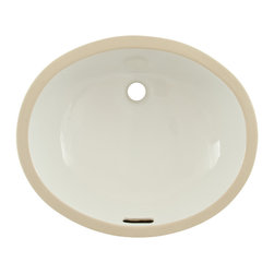 """Toto - Toto LT579G Cotton White Rendezvous Undercounter Lavatory with Sanagloss ADA - The Toto LT579G is an oval undermount lavatory, with a transitional design, in the Rendezvous Suite from Toto USA. The Toto LT579G Measures 17"""" x 14"""", and comes in cotton white - Sanagloss finish"""