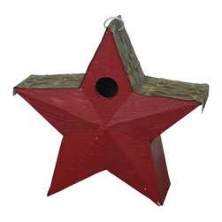 Songbird Essentials - Country Star Birdhouse Red - Frances Scott Key would be proud! Includes hook to hang.