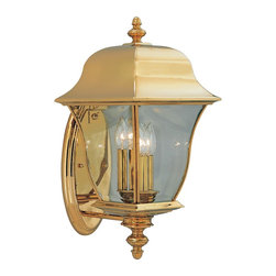 "Designers Fountain - Designers Fountain 1552-PVD-PB 10"" Wall Lantern Solid BrassGladiator Collection - Solid brass lanterns with a durable PVD finish that will not pit, tarnish, corrode or discolor."