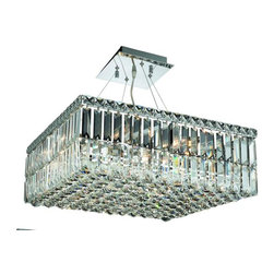 """PWG Lighting / Lighting By Pecaso - Chantal 12-Light 20"""" Crystal Chandelier 1728D20C-EC - The unique design of the Chantal Collection inspires any room setting. Dazzling spectacles of light sparkles throughout the fixture creating a modern, yet timeless beauty and elegance."""