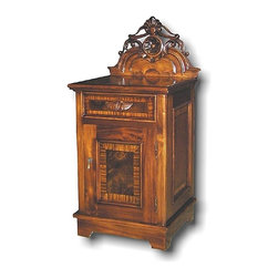 EuroLux Home - New Victorian Nightstand Carved Mahogany - Product Details