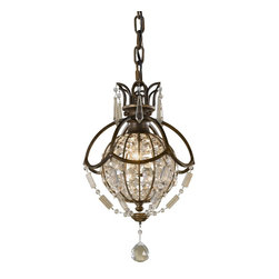 Murray Feiss - Murray Feiss Bellini Ball Shaped Pendant Light in British Bronze - Shown in picture: Bellini Pendant - Mini in Oxidized Bronze/British Bronze finish