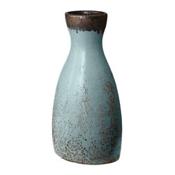 Lazy Susan - Lazy Susan LZS-857059 Rustic Persian Watering Jug - Large - You don't see many water bottles like this these days! Exquisite in its rustic style, this water jug is an elegant way to add texture and visual interest to your style. Organic lines and a deeply patinaed blue surface make this piece a versatile addition to both contemporary eclectic and rustic homes.