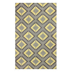 "nuLOOM - 7' 6""x9' 6"" Yellow Hand Tufted Area Rug Trellis ACR207 - Made from the finest materials in the world and with the uttermost care, our rugs are a great addition to your home."