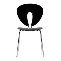 Globus Chair - Plastic/Chrome, Matte.Black - Design Within Reach