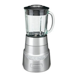 Cuisinart SPB-600 SmartPower Deluxe Blender - The Cuisinart SPB-600 SmartPower Deluxe Blender finally gives home cooks commercial-grade options without commercial-equipment prices. This powerful blender utilizes stainless steel blades and a 600-watt motor to give you versatile chopping and mixing abilities. The innovative design allows you to pulse on either high or low settings, letting you mince herbs, whip up smoothies, chop ice, or emulsify dressings. The shock-resistant borosilicate glass carafe already knows that there is probably a drop or two in its future, and it's ready to handle it. The die-cast metal housing is easy to clean and can handle its share of bumps and knocks. The secure-fitting lit also features a 2-oz. measuring cap insert.