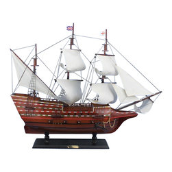 """Handcrafted Model Ships - Mayflower 30"""" - Wooden Model Ship - Sold fully assembled"""