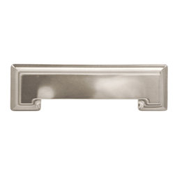 Hickory Hardware - Studio Collection Stainless Steel Cup Cabinet Pull - Bridges contemporary and traditional design.  Offering a deep rooted sense of history in some, with an updated feel and cleaner lines.