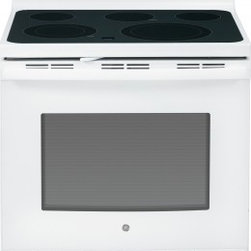 """GE - JB695DFWW 30"""" Free-Standing Electric Convection Range With Fifth Element Warming - The JB695 is a self-cleaning range with steam clean option letting you choose how to clean your oven The included storage drawer will give you a handy place to store baking sheetspans"""