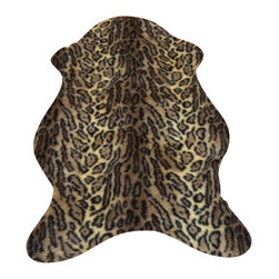 Hollywood Love Rugs - Faux Honey Jaguar Skin Rug 4' 10 x 6' 8 Large - Short Pile Faux Fur Honey Jaguar Hide Rug. Truly exotic with with authentic exotic animal skin rug appearance. These beautiful and affordable fake animal hide rugs are made with a rubberized non-skid backing. Washable, hypoallergenic, stain and soil resistant and naturally fire retardant without the use of chemical treatments. It's non-skid backing makes these rugs appropriate for every room in the home, including the bath or adventurous child's room. Vacuum only with hand held non-agitator vacuum. Wash with cold water and Woolite on gentle cycle and air dry.