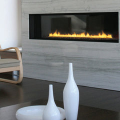 modern fireplaces Spark Modern 6 Foot Direct Vent Gas Fireplace