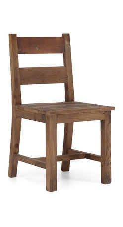 ZUO ERA - Lincoln Park Chair Distressed Natural - Rustic Little House on the Prairie meets urban chic. Clean lines, simple and sturdy, this fir wood chair will be a stalwart in your home or office. The distressed natural look and solid craftsmanship make this chair a no brainer for dining, guitar playing  and more.