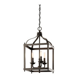 Kichler Lighting - Kichler Lighting 42566OZ Larkin 3 Light Foyer Pendants in Olde Bronze - This 3 light Foyer Pendant from the Larkin collection by Kichler will enhance your home with a perfect mix of form and function. The features include a Olde Bronze finish applied by experts. This item qualifies for free shipping!