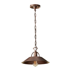 Murray Feiss - Murray Feiss P1238AC Urban Renewal 1 Bulb Antique Copper Chandelier - Murray Feiss P1238AC Urban Renewal 1 Bulb Antique Copper Chandelier