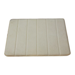 None - Memory Foam 17 x 34 Bath Mat - Take bath time to the next level with this cozy padded bathmat,which is made from soft,supportive memory foam that cradles your feet. The mat comes in a pale beige color that is designed to work with any type of bathroom decor scheme.