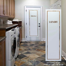 Eclectic Laundry Room by Sans Soucie Art Glass