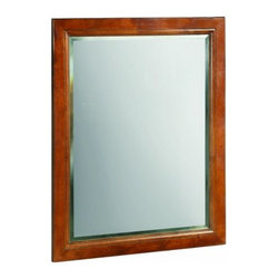 """DHI-Corp - Montclair Chestnut Glaze Wall Mirror with Solid Maple Frames, 24"""" by 30"""" - The Design House 539577 Montclair Chestnut Glaze Wall Mirror features a durable chestnut glaze finish and beveled mirror that matches vanities and countertops. The wooden frame has two recessed hooks on its back for easy installation. Use this mirror for shaving or applying makeup in the morning. This product comes pre-assembled and is CARB compliant, which means it adheres to the toughest production standards in the world for formaldehyde emissions (in wood composite paneling). The Design House 539577 Montclair Chestnut Glaze Wall Mirror has a 1-year limited warranty that protects against defects in materials and workmanship. Design House offers products in multiple home decor categories including lighting, ceiling fans, hardware and plumbing products. With years of hands-on experience, Design House understands every aspect of the home decor industry, and devotes itself to providing quality products across the home decor spectrum. Providing value to their customers, Design House uses industry leading merchandising solutions and innovative programs. Design House is committed to providing high quality products for your home improvement projects."""