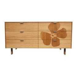 Iannone Design - Iannone Design | Green Mod: Flower Inlay Long Dresser - Michael Iannone design.