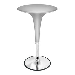 Lumisource - Gelato Bar Table Silver - Retro design combined with adjustable height hydraulics make the Gelato Bar Table both functional and stylish. Table height adjusts to meet your needs. Features a chrome base and support post. Bring a little joy into your home or bar!