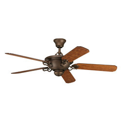 "Progress Lighting - Progress Lighting P2527-102 58"" 5-Blade Fan - 58"" Guildhall/Meeting Street/Santiago fan with 5 blades and 3-speed reversible motor. Roasted Java fan with Tuscan Oak blades. Full Function Remote is included."