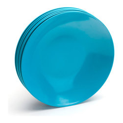 Pool Blue Low Bowls - All color all the time even at meal time.
