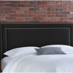Home Decorators Collection - Custom Fitzsimmons Upholstered Headboard - With its beautiful shape, soft and plush fabric and double nailhead border, our Custom Fitzsimmons Upholstered Headboard offers the perfect amount of personalization to your bedroom. Our large selection of top-quality fabric will ensure that you find the perfect look to match your style. Includes hardware to attach to most standard bed frames. Assembled to order in the USA and delivered in 4-6 weeks. Spot clean only.