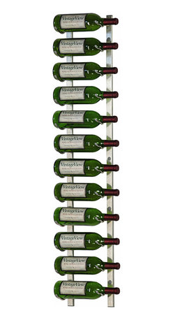 VintageView - VintageView 12 Bottle Metal Wine Rack, Brushed Nickel - Create a wall wine rack system anywhere. These metal wine racks are slightly taller than the WS3 Series, but equally decorative and versatile. Showcase your wine, not the racks. We are proud to be the best dealer of VintageView products in America, and we back our position with unsurpassed customer service.