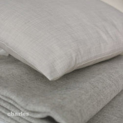 "Area - Charles Grey Travel Set - Includes: 90"" x 90"" Grey Alpaca Blanket, Soft Grey Cotton Pillow and Bag"