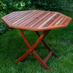 Eucalyptus Wood 40-inch Octagon Folding Table - This octagonal table looks so great I didn't believe it was a fold-away at first. If you do a lot of entertaining, this is an ideal choice to have as a go-to table that looks terrific.