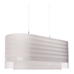 Moooi - Fringe 6-Pendant Light - Join the fringe element! This dramatic drum pendant, designed by Edward van Vliet, adds a touch of flirty trim on an otherwise classic shade — the result is the perfect ceiling centerpiece for your favorite setting.