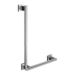 "WS Bath Collections - System 3570.001.07 Corner Grab Bar - System 3570.001.07, 17.7"" x 3.5"" x 24.9"", Corner Grab Security Bar in Polished Chrome"