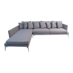 SOLD OUT!   Modern Gray Sectional - $2,000 Est. Retail - $1,000 on Chairish.com -