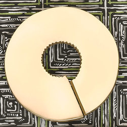 """Lisa Jarvis - Lisa Jarvis Clef Pulls - Bold and contemporary, the Lisa Jarvis Clef pulls shine with geometric sophistication. Its circular shape is subtly abstract, delivering statement appeal to modern furnishings. 4"""" Dia; Available in soft gold or silver finishes; Brass"""