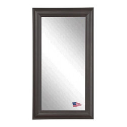 Rayne Mirrors - American Made Brazilian Walnut Full Length Mirror - Put the finishing touches on your decor with this beautiful espresso walnut round top framed tall mirror.  Elegant and understated, this classic or transitional style mirror is a versatile accent piece for any home or office space.  Rayne's American Made standard of quality includes; metal reinforced frame corner  support, both vertical and horizontal hanging hardware installed and a manufacturers warranty.
