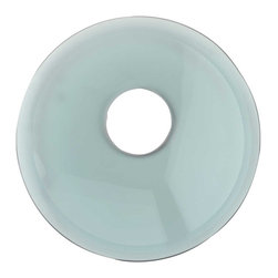 Renovators Supply - Faucet Parts Green Glass Waterfall Disk - JEWELRY for your waterfall faucet!  Mix & Match interchangeable  glass & ceramic faucet disks & give your waterfall faucet a whole NEW LOOK! Not sure which pattern disk you prefer? Just buy additional disks and change them whenever you wish. 100@_s;s of COLORS & STYLES  to choose from! Coordinate your faucet with our selection of  Glass Vessel Sinks, Wall-mounts & Consoles!! Or coordinate your modern faucet with  Vitreous China recessed or above-counter sinks.