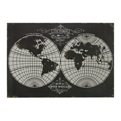 Sterling - Sterling 51-10118 World Maplaser Cut Map Of The Globe - Sterling 51-10118 World Maplaser Cut Map Of The Globe