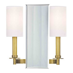 Hudson Valley Lighting - Hudson Valley Lighting 992-AGB Adams Aged Brass Wall Sconce - Hudson Valley Lighting 992-AGB Adams Aged Brass Wall Sconce