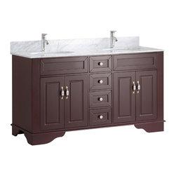 Shop 59 Inch Double Bathroom Vanity Bathroom Vanities on Houzz