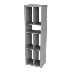 Eurø Style - Ryn Gray Shelving Unit - Features: