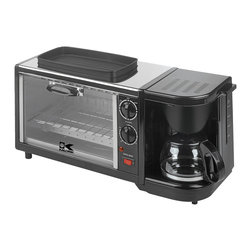Kalorik - 3-in-1 Breakfast Station - This is perfect for a small space like a vacation cabin or studio apartment. You could be brewing coffee, baking muffins and scrambling up some eggs in no time. It is a genius space-saver.