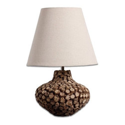 ParrotUncle - Tree Branches Pot Base Tapered Shade Home Lighting Table Lamp - Made from premium materials,this table lamps offers great function and ornamental value for your home with the natural beautifulness of original ecology. Solid wood decorative table lamp with creative arts