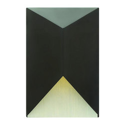 Hinkley - Hinkley Vento One Light Satin Black Outdoor Wall Light - 2184SK-LED - This One Light Outdoor Wall Light is part of the Vento Collection and has a Satin Black Finish. It is Dark Sky Compliant, and Outdoor Capable.