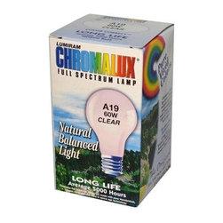 Chromalux Standard Clear Light Bulb - 60 Watt - 1 Bulb - Chromalux Standard Clear Light Bulb Description: