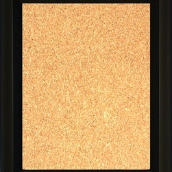 """Framed Cork Board 16"""" x 20"""" - with Large Black Finish Pyramid Frame - 16"""" x 20"""" framed premium cork board produced to meet designer quality standards. This decorative framed bulletin boards are produced using high-precision framing techniques for a high-quality finished product with an extra thick cork surface. Our progressive business model allows us to offer these practical, yet decorative message boards to you at the best wholesale pricing, significantly less than frame shop corkboards, affordable to all. Great for office, conference room, home, kitchen, scheduling, leaving memos, to-do lists, family schedules, kid's art, photos, mementos, reminders, messages, lists, as an organizer, menu, for writing, drawing, classroom, school teacher, coaching and more. This corkboard is mounted into our 3 1/2"""" wide large black finish pyramid frame by one of our expert framers. This framed pinboard comes with hardware, ready to hang on your wall, with the option of hanging horizontally or vertically.  We present a comprehensive collection of exceptional framed cork boards."""