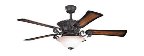 """Kichler - Kichler 300207DBK Rochelle 56"""" Indoor Ceiling Fan 5 Blades - Remote, Ligh - Kichler 300207 Rochelle II Ceiling Fan"""