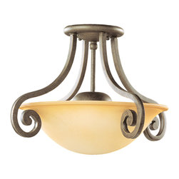 Sea Gull Lighting - Sea Gull Lighting 77430-71 Brandywine Antique Bronze Semi-Flush Mount - Sea Gull Lighting 77430-71 Brandywine Antique Bronze Semi-Flush Mount