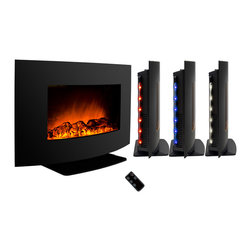 "AKDY - AKDY AG-Z520ALB Wall Mount Electric Fireplace, Log, 36"", W/o Free Standing Kit - GV's high performance wall mount electric stoves offer the instant ambiance of a traditional fireplace experience. Each of our wall mount electric fireplaces provide quiet, instant heat and eye-catching design. You will find electric stoves with both classic and traditional designs that will complement many decors. Our electric fireplaces are ideal for condominiums, lofts, apartments or single homes. Simply plug in and enjoy the warmth and realistic flame of your new fireplace anywhere in your home. The 3-D flame technology provides you with a realistic flame that can be enjoyed year round with or without heat. Our electric fireplace stoves plug into any standard outlet and move easily from one room to another."