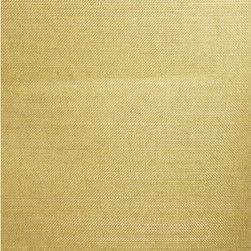 Wakumi Olive Grasscloth Wallpaper - A finely woven natural grasscloth wallpaper featuring delicate grasses over an olive green hue.