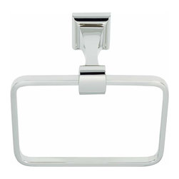 Alno Inc. - Alno Creations Manhattan Towel Ring Polished Chrome A7440-Pc - Alno Creations Manhattan Towel Ring Polished Chrome A7440-Pc